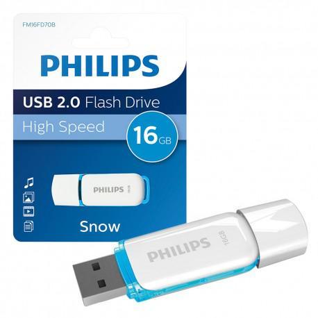 Флаш памет Philips 16GB Snow Edition USB 2.0 - 4