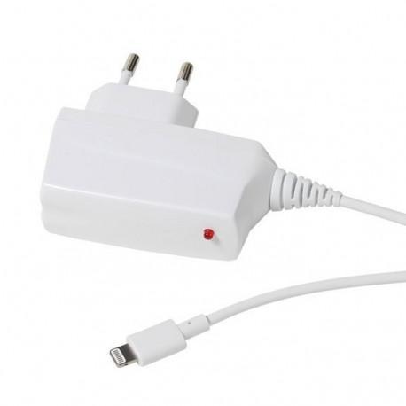 Зарядно устройство Vivanco 33906, 2.4A, Lighning, за iPhone/iPad, 1m, бяло