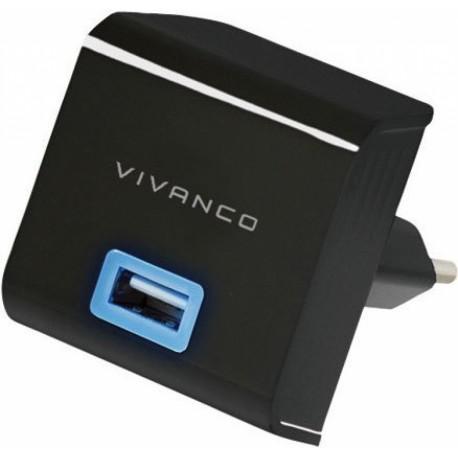 Зарядно устройство Vivanco 35586, 2.1A Quick Charging, MicroUSB, 1m