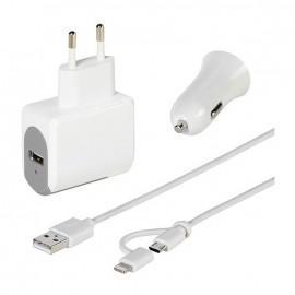 Universal charger kit Vivanco 36306, 2x 2.4A, 100-240V, 12V/24V