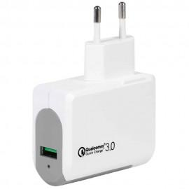 Зарядно устройство Vivanco 37546, 3A, Qualcomm Quick Charge 3.0, USB