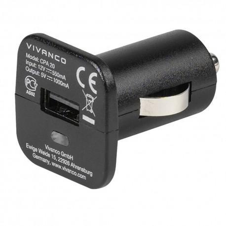 Зарядно за автомобил Vivanco 35589, 2.1A, Micro-USB, 12V - 2