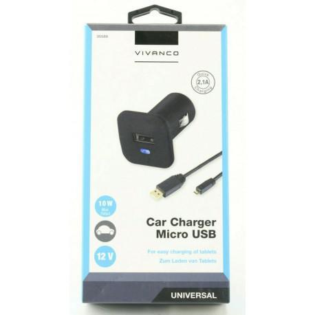 Зарядно за автомобил Vivanco 35589, 2.1A, Micro-USB, 12V - 4