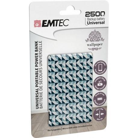 Външна батерия EMTEC ECCHA25U700WP04U, 2500mAh, USB - 2