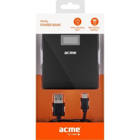 Външна батерия ACME PB06, 6000mAh, 2x USB - 4