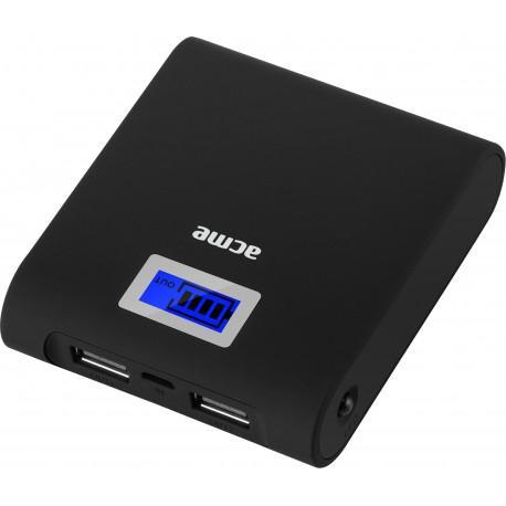 Външна батерия ACME PB06, 6000mAh, 2x USB - 2
