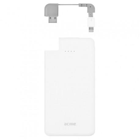 Power Bank ACME PB08, 4000mAh, USB, MicroUSB, Lightning - 2