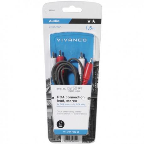 Cable Vivanco 46500, 2xRCA, 1.5m - 2