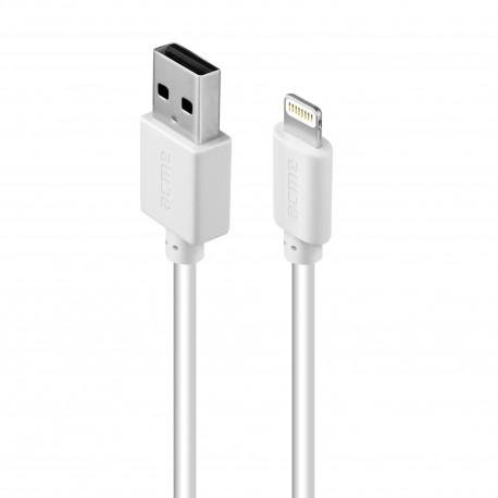 Кабел ACME CB1031W, Lightning, USB, 1m, Бял