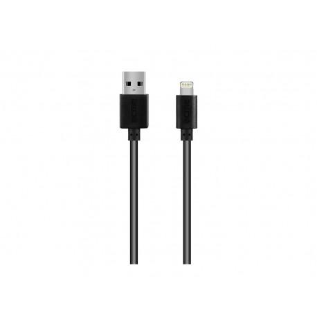 Кабел ACME CB1031, Lightning, USB, 1m, Черен
