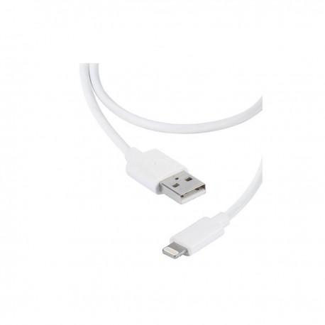 Кабел Vivanco 36300, Lightning, USB, 2m, Бял