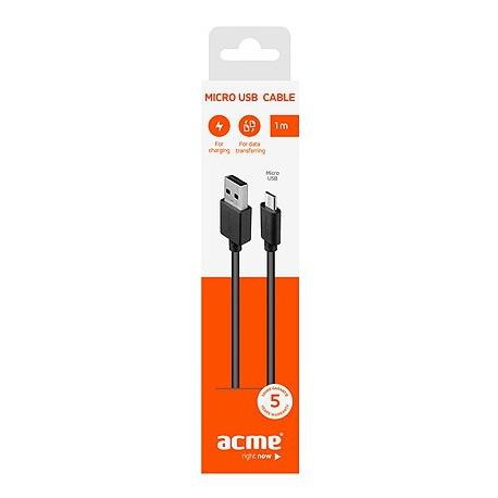 Cable ACME CB1011, Micro-USB, USB, 1m, Black - 3