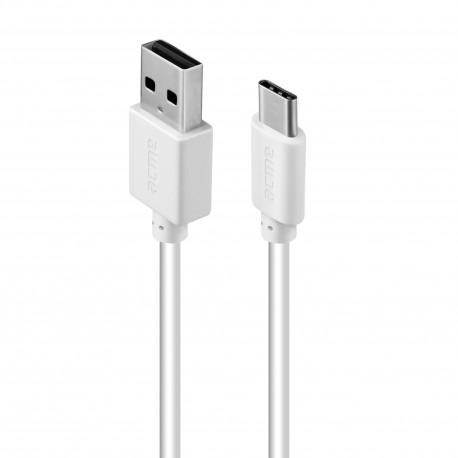 Кабел ACME CB1041W, Type-C, USB, 1m, Бял
