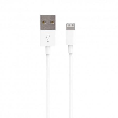 Кабел Vivanco 36299, Lightning, USB, 1.2m, Бял - 2