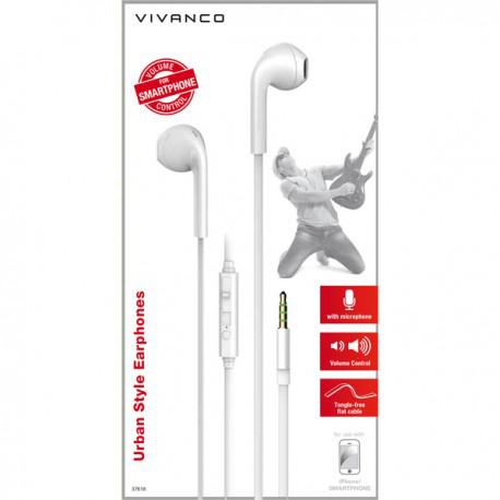 White headphones Vivanco URB 40 W / 37618 with a microphone - 2
