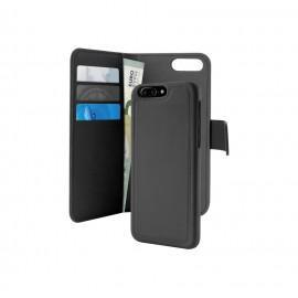 Кожен калъф/портфейл на PURO за iPhone 7/8 Plus с магнитно заключване