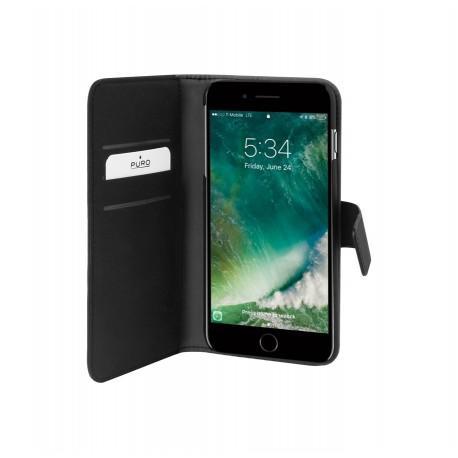 Кожен калъф/портфейл на PURO за iPhone 7/8 Plus с магнитно заключване - 4