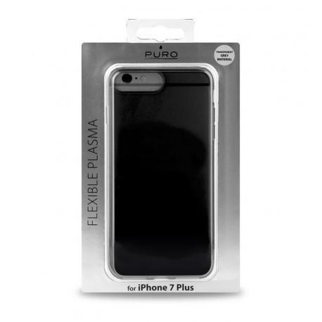 Силиконов сив гръб на PURO за iPhone 7/8 Plus - 3