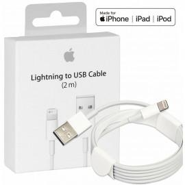 Original Apple cable, Lightning, USB, 2.0m, White