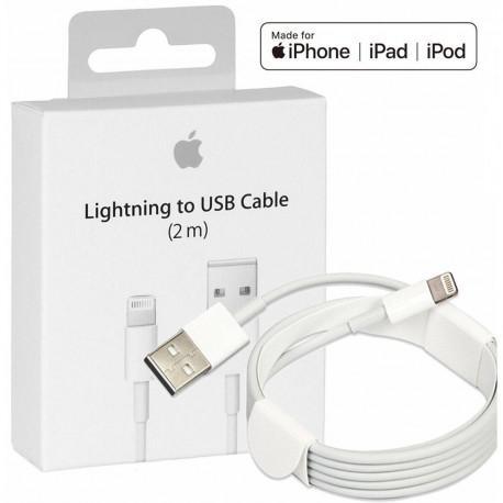 Оригинален кабел на Apple (MD819ZM/A), Lightning, USB, 2.0m, Бял