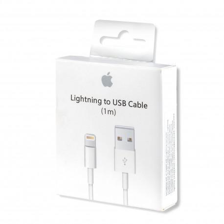 Оригинален кабел на Apple (MD818ZM/A), Lightning, USB, 1.0m, Бял