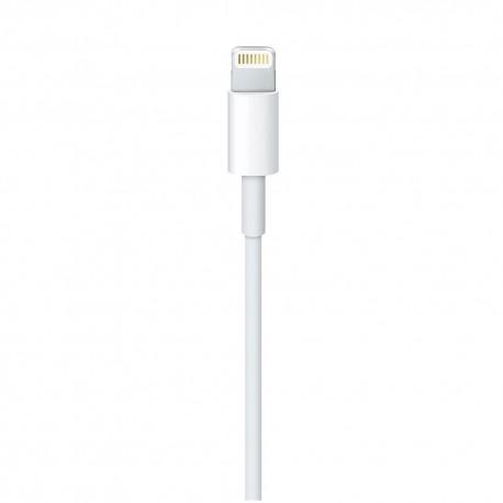 Оригинален кабел на Apple (MD818ZM/A), Lightning, USB, 1.0m, Бял - 2